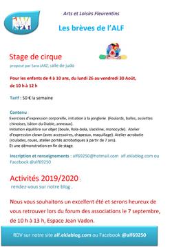 INFORMATIONS ESTIVALES DE L'ALF