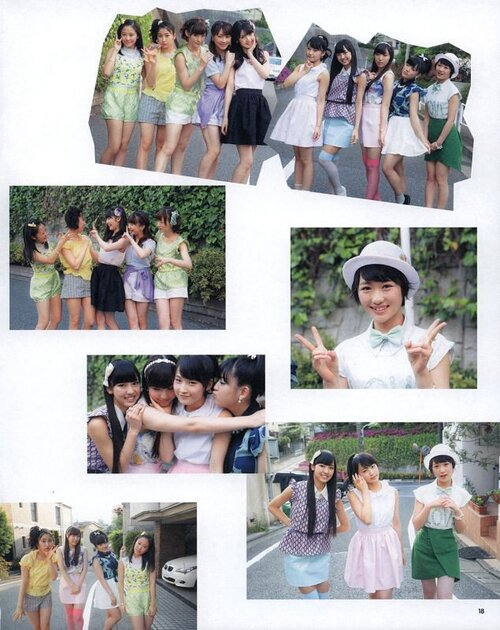 Apparition des Morning Musume'14 dans Idol JUNON 2014