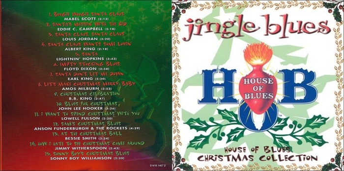"Various Artists : CD "" Jingle Blues House Of Blues Christmas Collection "" House Of Blues Records 51416 1407 2 [ US ]"