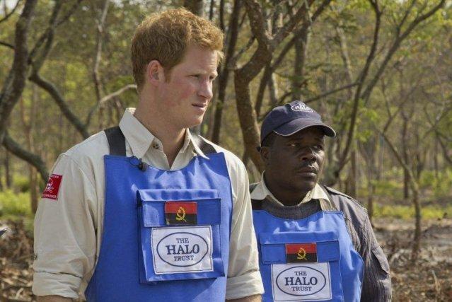 Le prince Harry «irrité» par les lenteurs du déminage en Afrique