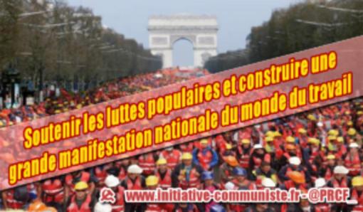 Engager toutes les forces en faveur de la grève générale en France #tract #PRCF (IC.fr-