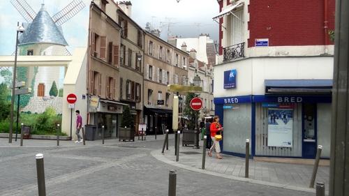 Une partie du centre ville de Suresnes