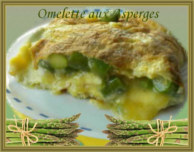 Recette de cuisine : Omelette aux asperges.