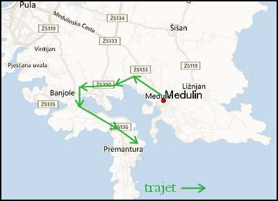 Visite de Médulin et de la presqu'île de Premantura