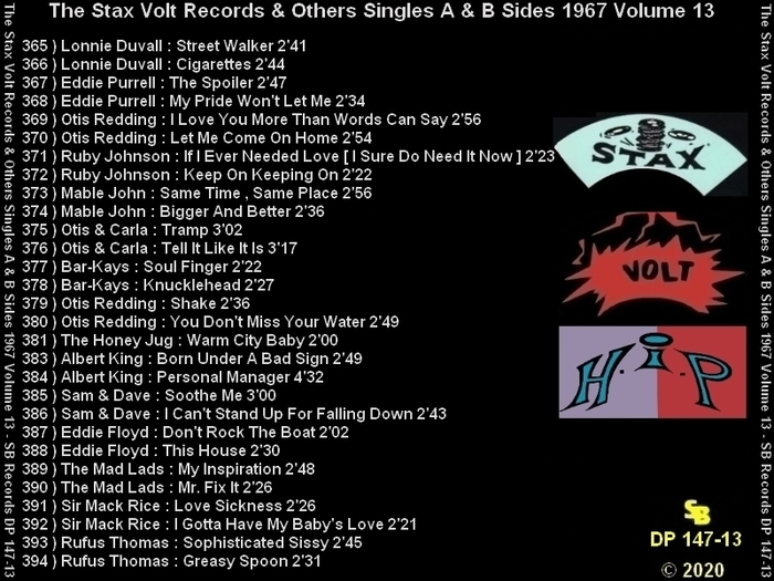 """ The Complete Stax-Volt Singles A & B Sides Vol. 13 Stax & Volt Records & Others "" SB Records DP 147-13 [ FR ]"