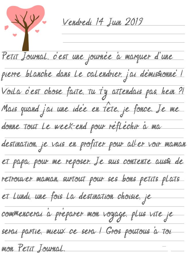 Journal de Mireille, 14 Juin 2019