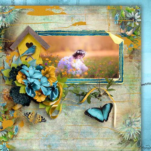 Let The Sun Shine by dentelle scrap