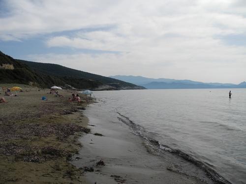 Plage de Farinole au Cap Corse