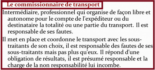 Le commissionnaire de transport