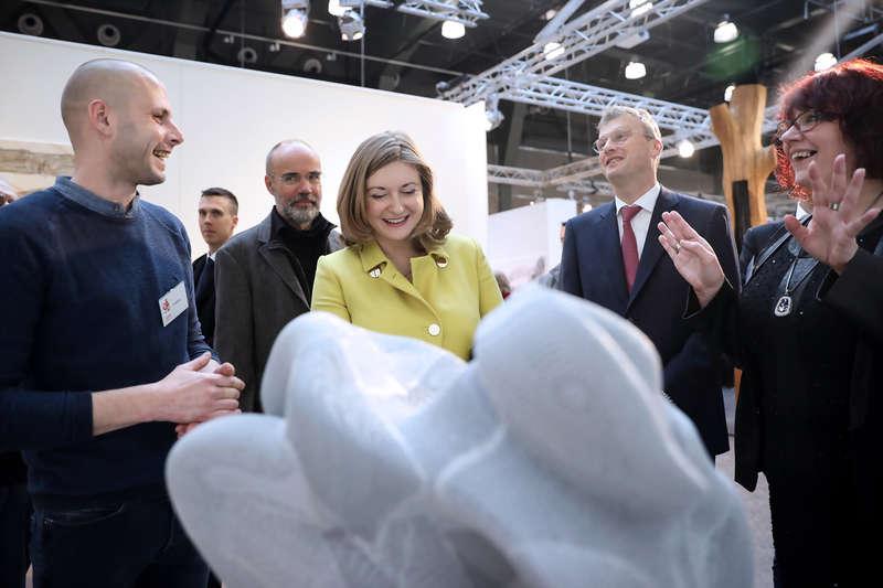 Visite officielle du Salon 2019 du Cercle Artistique de Luxembourg