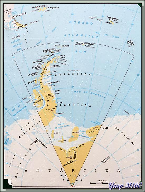 Interdiction d'amarrage aux navires pirates anglais - Port d'Ushuaia - Terre de Feu - Argentine