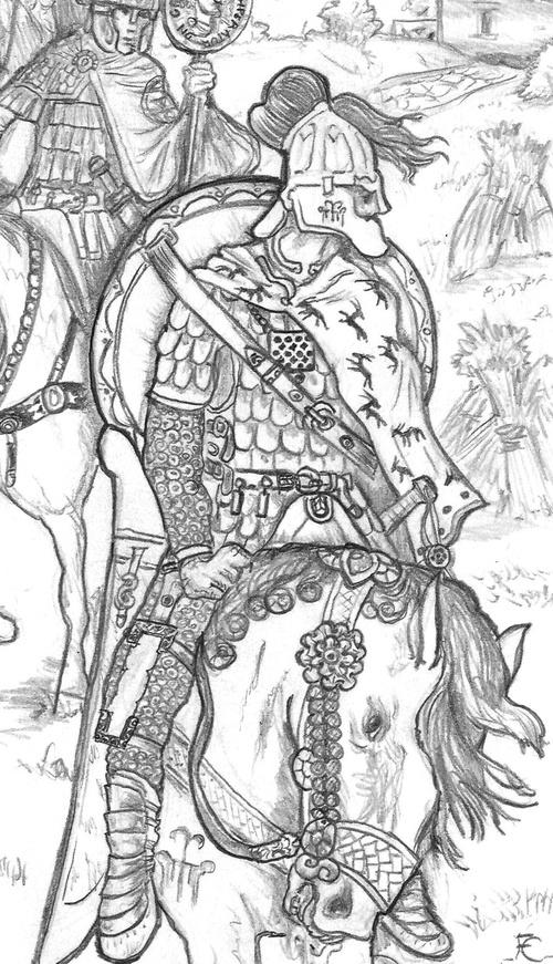 Gratien trahi, fuyant la bataille de Lutèce