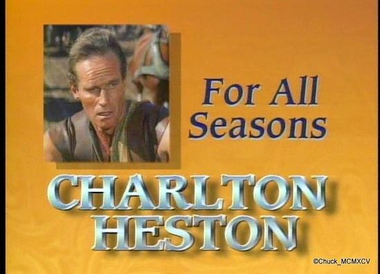 CHARLTON HESTON FOR ALL SEASONS (1995) Partie 2 Photos