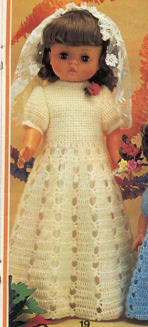 Léa.robe de mariée pour grande poupée