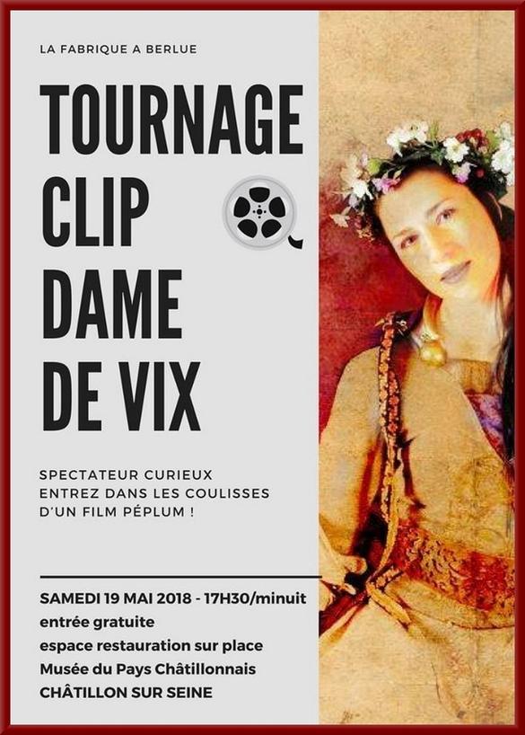 """Le tournage du clip  sur la Dame de Vix par """"La fabrique à Berlue"""" a enthousiasmé les visiteurs !"""