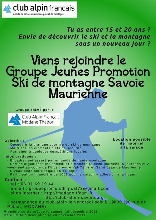 NOUVEAU : Création d'un groupe jeune de ski de rando