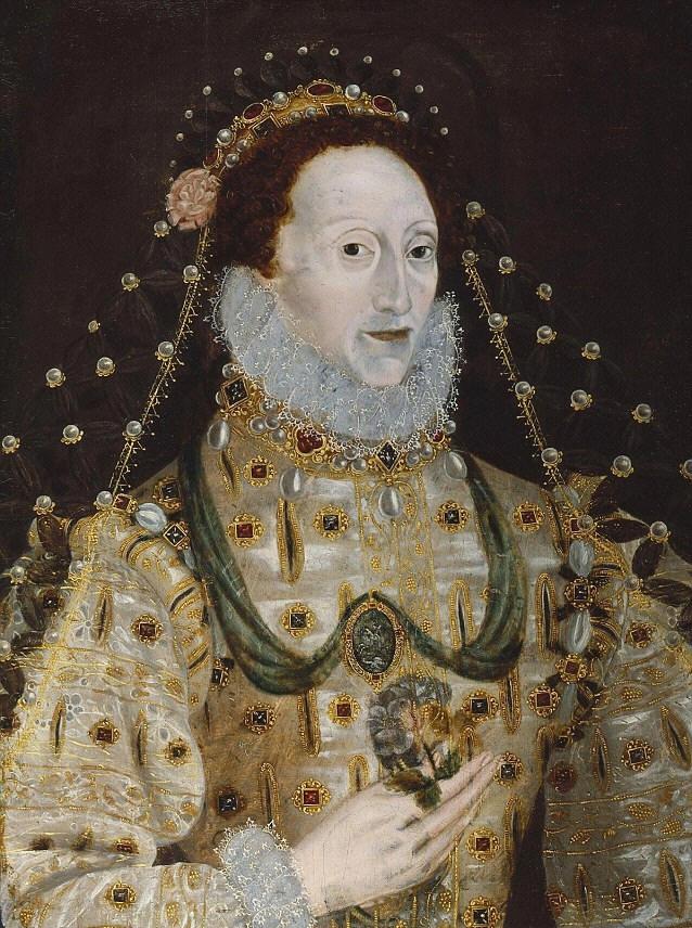 Portrait de la Reine Elizabeth I peint par un artiste inconnu entre 1580-1590