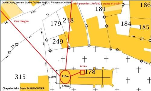 La crypte de la chapelle Saint-Denis de Marmoutier et le souterrain du Haut-Barr. (CAMEXPLO / Laurent GLADY / Albert FAGIOLI / Vincent SCHMITD)