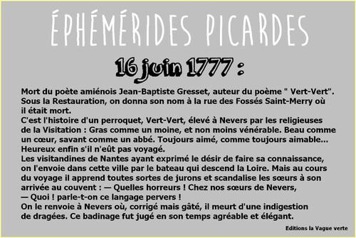 Ephémérides picardes : le 16 juin 1777