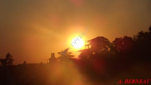 Couché de soleil devant mon balcon - 1er octobre 2011