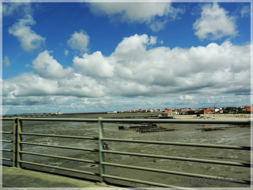 Arrivée à Oléron, marée basse...