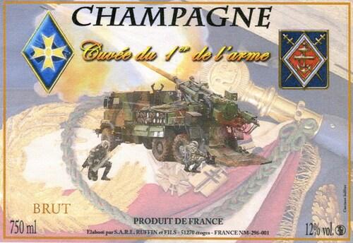 * Un champagne aux couleurs du 1er RAMA