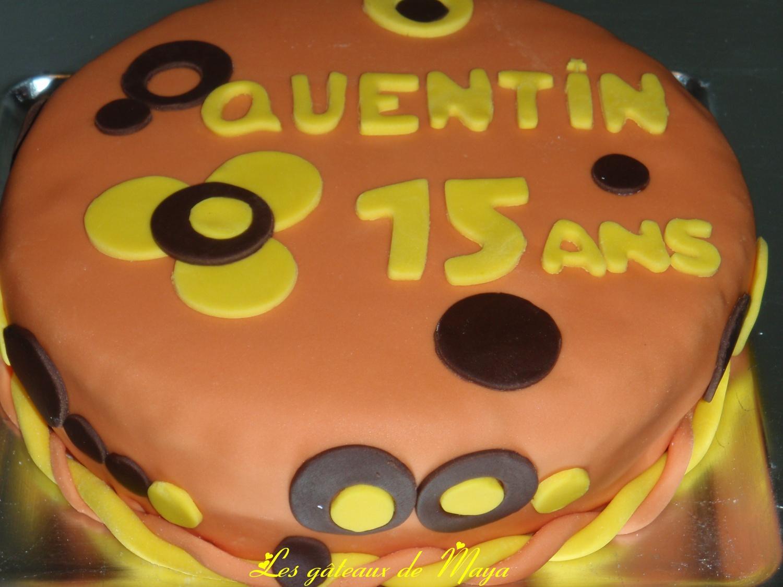 Bien connu Gâteau d'anniversaire, décors en pâte à sucre - Les gâteaux de Maya II53