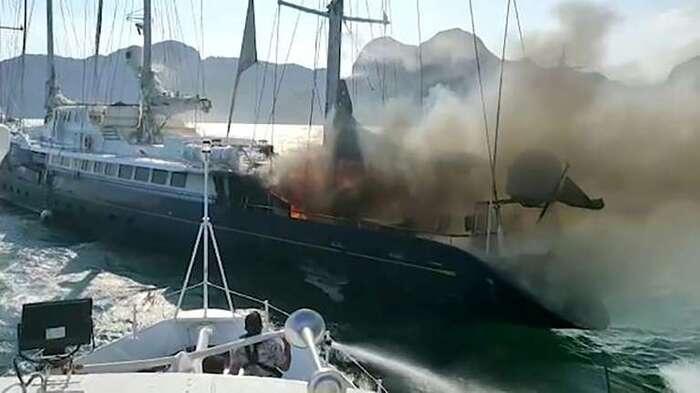 Le Phocéa, l'ancien yacht de Bernard Tapie, a coulé au large de la Malaisie