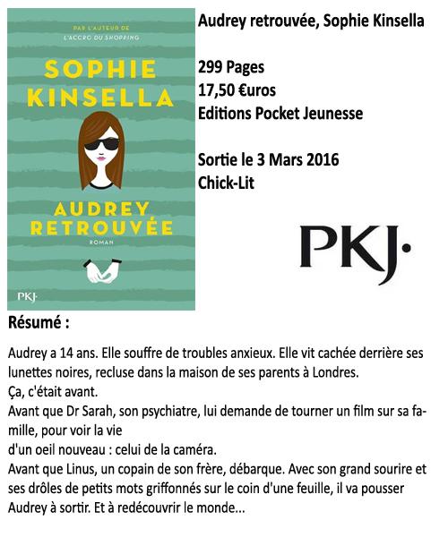 Audrey retrouvée, Sophie Kinsella