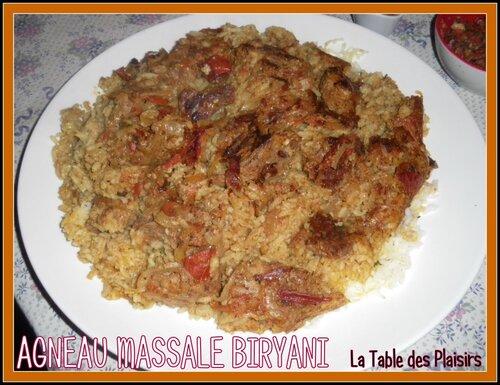 AGNEAU MASSALE BIRYANI