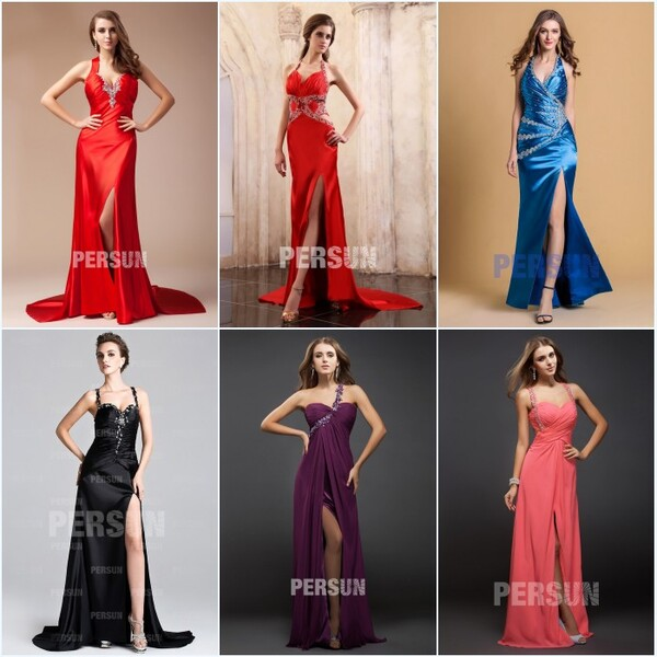 robes de bal sexy fendues longues