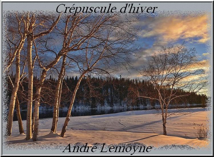""""""" Crépuscule d'hiver"""" poème d'André Lemoyne"""
