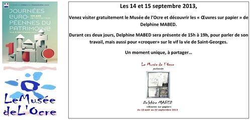 Exposition Musée de l' Ocre.