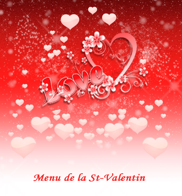 menu poème st-valentin