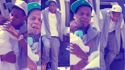 Jay-Z & Blue Ivy Carter Chopper Into the Big Apple!