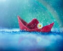 Petit bateau florale ....