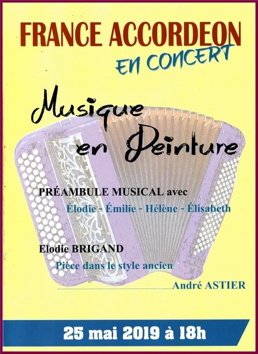 Un beau concert de France-Accordéon a animé le 10ème salon des peintres des Amis du Châtillonnais
