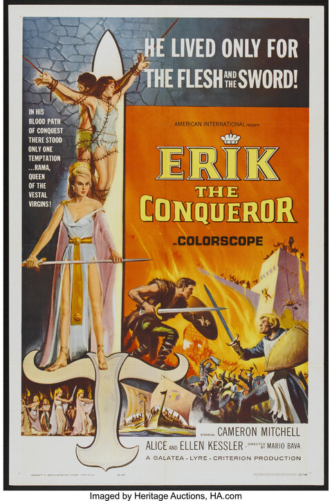 ERIK THE CONQUEROR BOX OFFICE USA 1963