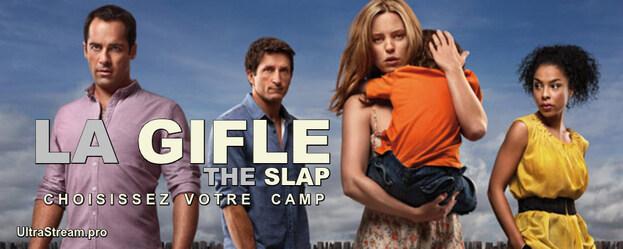 La Gifle ( The Slap ) : Les répercussions d'une claque donnée par un adulte à un enfant -qui n'est pas le sien- lors d'un barbecue entre amis. Chaque épisode suit le quotidien bouleversé de l'un des témoins de la scène...-----... la serie : Australienne  Titre original : The Slap  Saison : 1 saison  Episodes : 8 épisodes  Statut : Production achevée  Acteur(s) : Jonathan LaPaglia, Melissa George, Sophie Okonedo  Genre : Drame