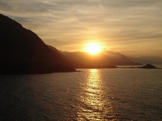 Soleil couchant sur la cote Jijellienne.