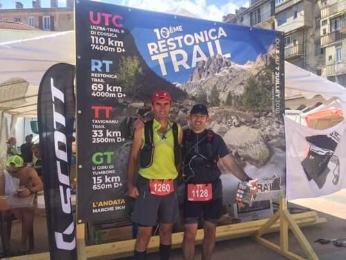 Michel et Jean-Marc en Corse pour le Tavignanu trail