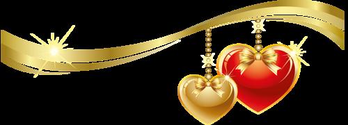 Ornements Saint-Valentin Série 9