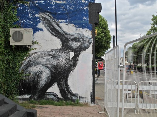 Londres street-art Hackney Roa lapin 8111
