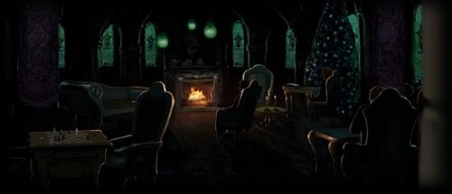 La salle commune de Serpentard