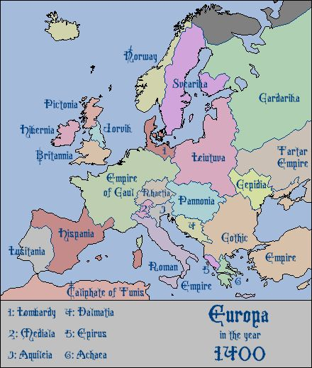 Empire of Gaul Map 1400: