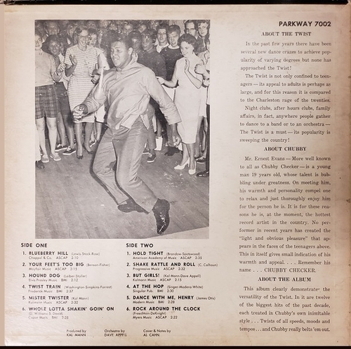 "Chubby Checker : Album "" For Twisters Only "" Parkway Records 7002 [ US ]"