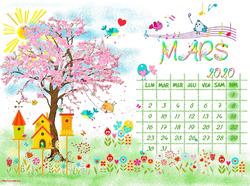 Calendrier mensuel + créas du moment