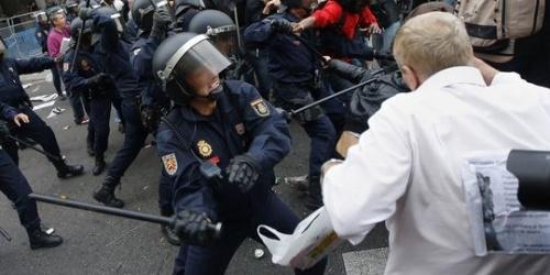 Manif' des Indignés à Madrid