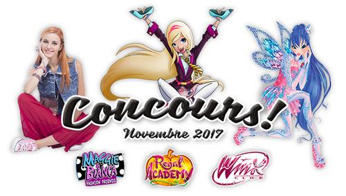 Concours Novembre 2017 : Winx, Regal Academy et Maggie & Bianca