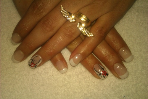 Nail art sur french